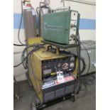 Hobart MEGA-MIG 300RVS MIG Welding Power Source s/n 81WS20892 w/ MK Cobramatic MIG Welder Feeder