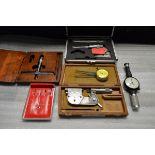 """Lukfin Depth Micrometer 0-3"""", Etalon O.D. Indicating Micrometer , N.C.K. I.D. Dial Caliper ,"""