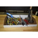 Box of Flathead Drivers, Screw Drivers, Hammers and Files