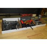 Various Hand Tools, Wrenches, Channel Locks, Allen Keys, Sockets, Socket Wrenches, 3 Boxes Total