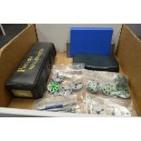 Assorted Calibrated Thread Gages, Thread Ring Gages, Calculator, Vitrex Countour Gage, Portable