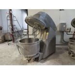 Konig spiral mixer, model DW-240, s/n 50.4 0111, mfg 2007, touch pad control, wall mounted motor
