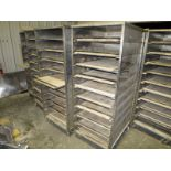 """Lot of (16) 10-Tray proof boxes, 68"""" h x 28"""" w x 36"""" deep, mobile bases"""