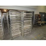 """Lot of (14) 10-Tray proof boxes, 68"""" h x 28"""" w x 36"""" deep, mobile bases"""