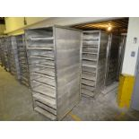 """Lot of (7) 10-Tray proof boxes, 68"""" h x 28"""" w x 36"""" deep, mobile bases"""