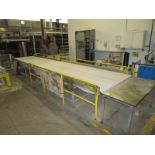 """Marden discharge belt from unloader, 24' x 55"""" wide, with servo drives, hand and foot controls"""