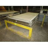 """Marden feed belt for oven loader, 12' x 55"""" wide, with servo drive and hand controls"""