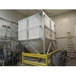 CEPI STX canvas type bulk flour storage bin, installed in 2009, 28,200 lb max. load capacity, 12'