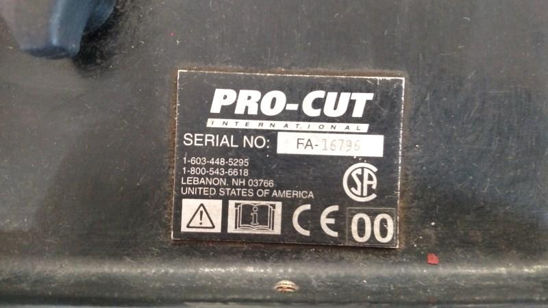 Lot 2 - Pro-Cut On-Car Brake Lathe, s/n FA-16796