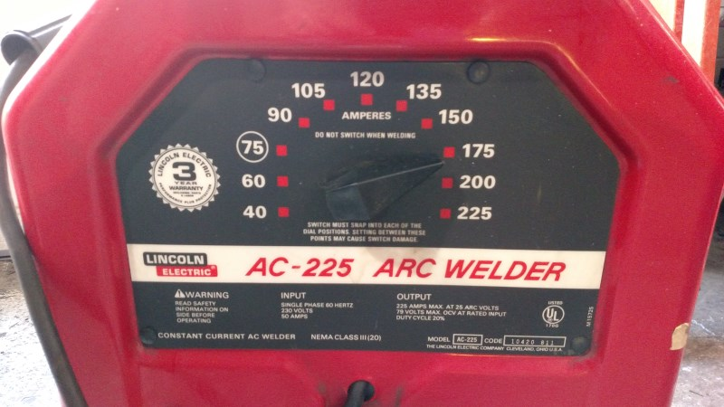 Lot 1 - Lincoln AC-225 amp Arc Welder