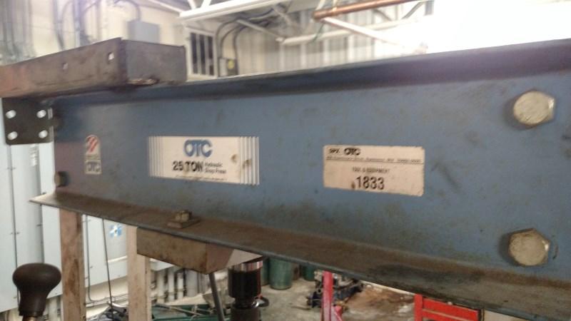 Lot 5 - SPX-OTC 25 Ton H-Frame Hyd. Shop Press w/ Hand Pump