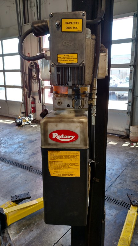 Lot 13 - Rotary SPOA9-202 / 9,000 Lb. 2-Post Surface-Mount Lift (Model Year: 2000), Extended Height (14'