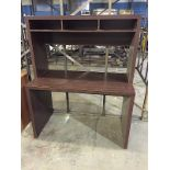 Dark brown office desk set