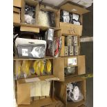 Assorted fibre optic supplies (9 boxes)