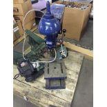 Blue drill press