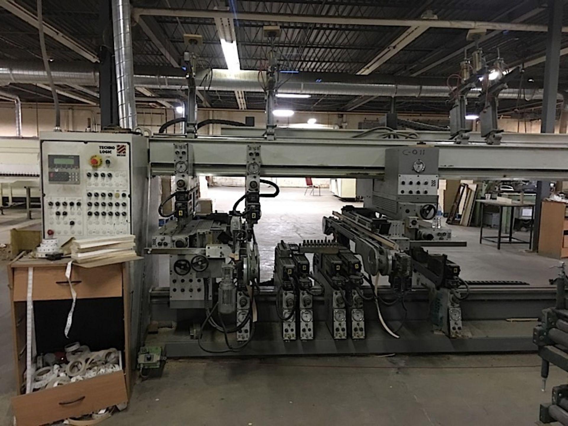 BIESSE (TECHNO) CNC FEED THROUGH BORING MACHINE