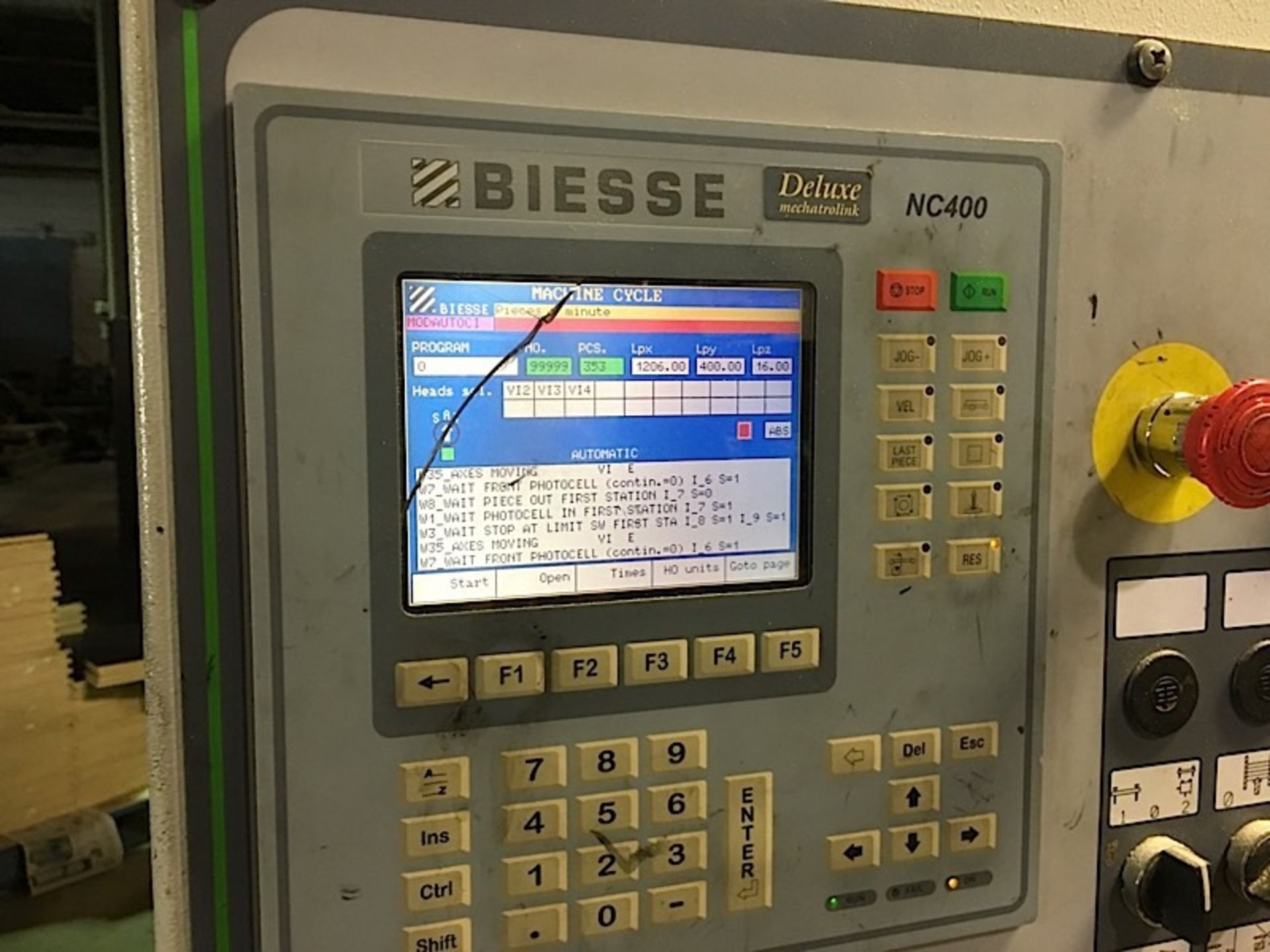 2003 BIESSE (TECHNO) CNC FEED THROUGH BORING MACHINE - Image 2 of 2