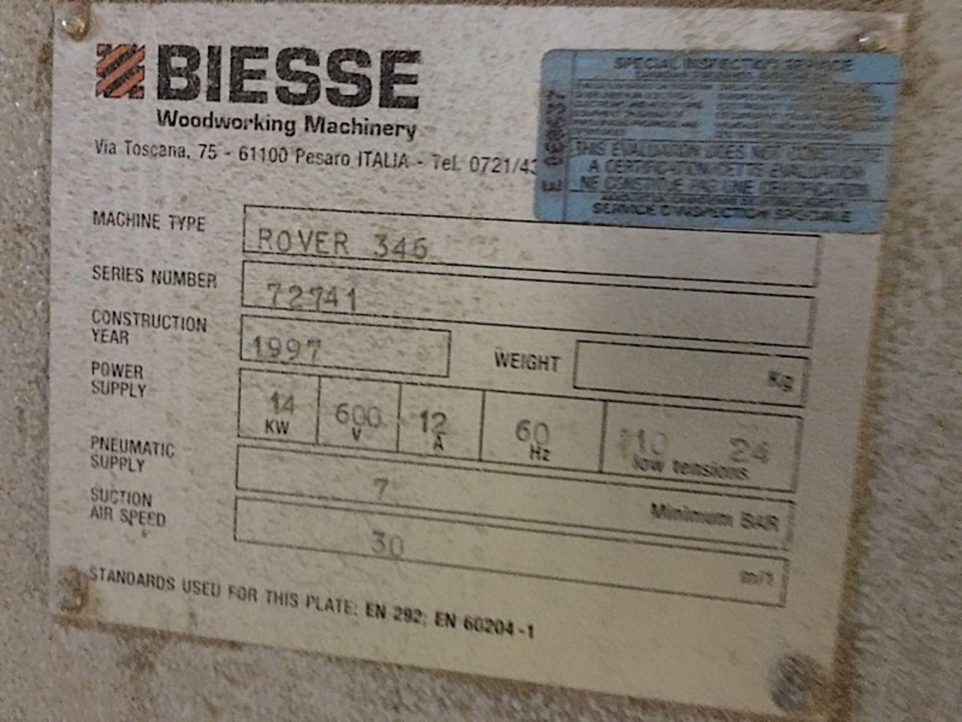BIESSE (346) CNC POD & RAIL ROUTER - Image 4 of 4