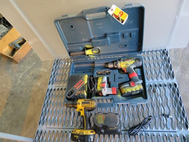 Lot 9 - Bosch & Dewalt Rechargable Drills