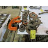 LOT OF PIPE THREADERS & PIPE CUTTER, assorted