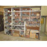 SHELF, w/pipe fittings, couplings, etc., assorted