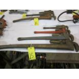 LOT OF PIPE WRENCHES (4)