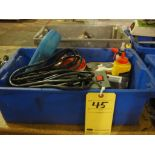 LOT CONSISTING OF: electric tools & supplies, misc.