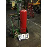 CUTTING TORCH CART, w/hoses & regulators