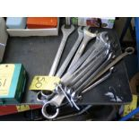 LOT OF COMBINATION WRENCHES, assorted