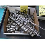 LOT CONSISTING OF: sockets, ratchets, speed handles, crows foot wrenches, assorted