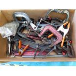 LOT OF CLAMPS: C & welding, assorted