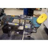 """HORIZONTAL BANDSAW, WELLS 10"""" MDL. 1000, coolant system, roller infeed conveyor, S/N 4814"""
