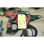 LOT OF ELECTRIC DRILLS (2), BLACK & DECKER, 7 amp