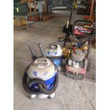 LOT CONSISTING OF: shop vacuums & Honda 4.5 2,200 PSI pressure washer