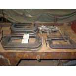 LOT OF FORGED C-CLAMPS (13), adj.