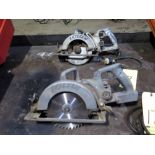 LOT OF WORM DRIVE HAND SAWS (2), SKIL