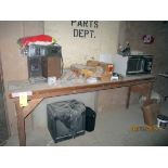 LOT OF FORKLIFT PARTS, HYSTER (on one table)