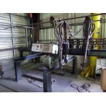 """CANTILEVER BURNING MACHINE, MG CUTTING SYSTEMS, 72"""" max. cutting width, 36"""" carriage travel, (2)"""