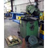 """COLD SAW, BROBO MDL. SUPER 350, 10"""" blade, air vise, mitering capability from 0 to 45 deg.,"""