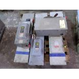 LOT OF ELECTRICAL BOXES: Square D & Cutler-Hammer (on two pallets)