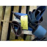 PNEUMATIC FINISHING SANDER, DYNABRADE MDL. 13204, w/extra belts