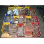 LOT CONSISTING OF: pipe fittings, clamps, U-bolts, pump fixtures (on three pallets)