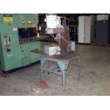 DRILLING MACHINE, CUSTOM, fabricated steel base, Hypneumat self-feeding drilling head, #3 MT, 2 HP