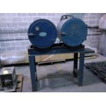 LOT CONSISTING OF: dual rod ovens, on fabricated stand