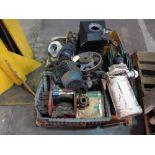 LOT CONSISTING OF: elec. motors, gears & pulleys (on one pallet)