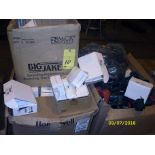 LOT OF CONSISTING OF: burning goggles & helmet lenses, assorted
