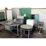 LOT CONSISTING OF: benches & stands