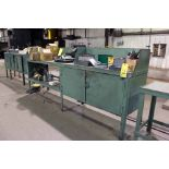 LOT OF METAL WORKBENCHES (3)
