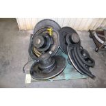 LOT CONSISTING OF: drum mount shop vac heads & PC's (5) (on one skid)