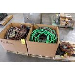 LOT CONSISTING OF: air hose & pwr. cords
